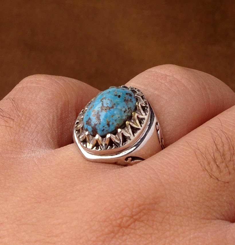 انگشتر مردانه فیروزه تبت