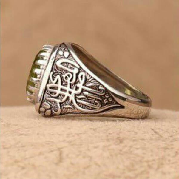 انگشتر مردانه زبرجد اصل