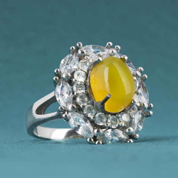 انگشتر زنانه عقیق زرد شرف الشمس