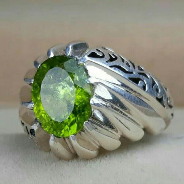 انگشتر مردانه زبرجد دست ساز