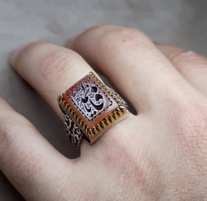 انگشتر مردانه در حسینی خطی