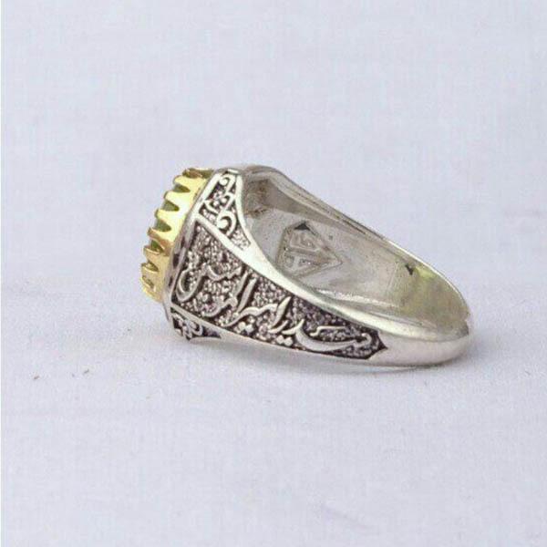 انگشتر مردانه زبرجد اعلا
