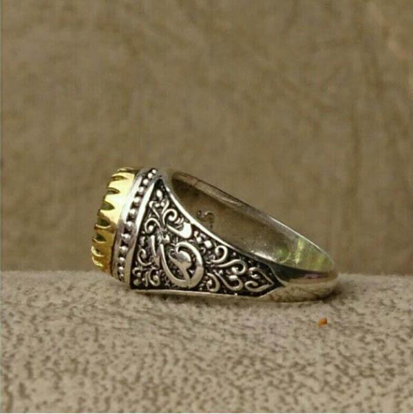 انگشتر نقره مردانه زبرجد