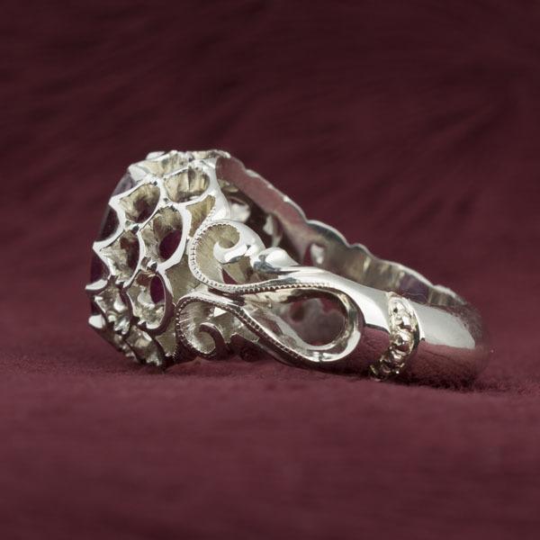 انگشتر مردانه یاقوت سرخ دست ساز