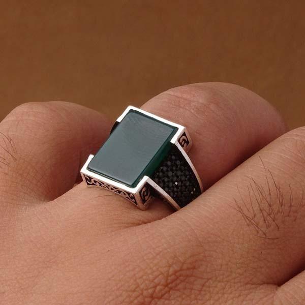 انگشتر اسپرت سبز