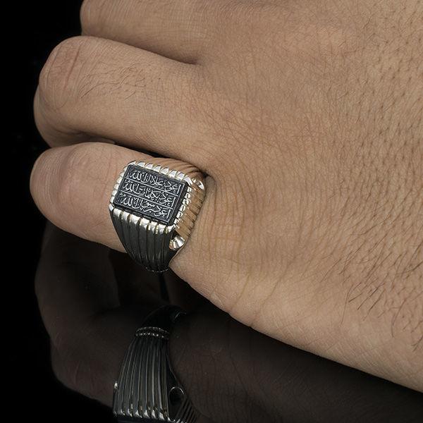 انگشتر مردانه حدید هفت جلاله دست ساز