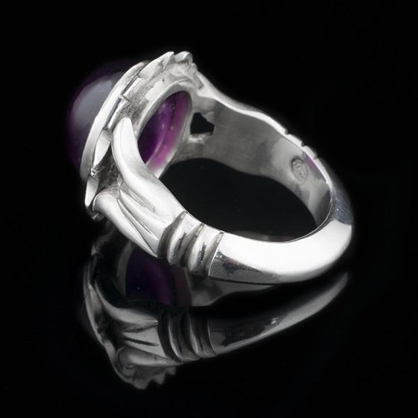 انگشتر مردانه آمتیست دست ساز