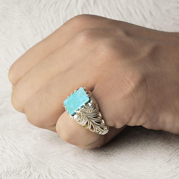 انگشتر مردانه فیروزه نیشابوری اصل