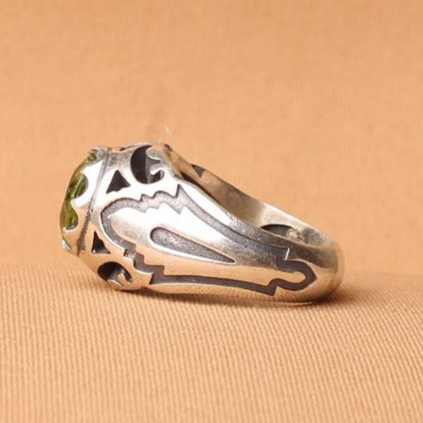 انگشتر مردانه زبرجد معدنی