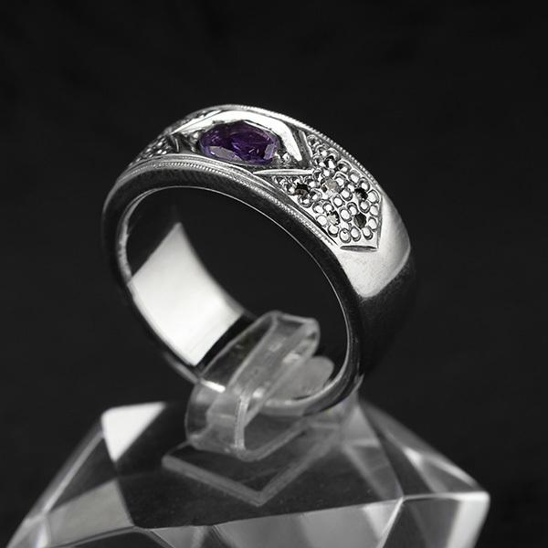 حلقه انگشتر مردانه آماتیست دستساز