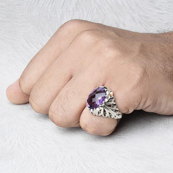 انگشتر مردانه آمیتیس دست ساز