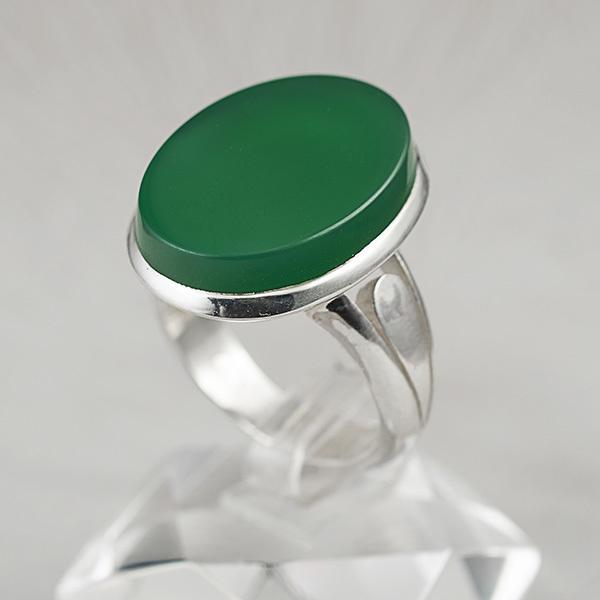 انگشتر مردانه عقیق سبزدستساز