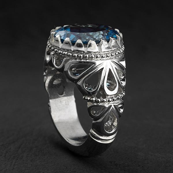 انگشتر مردانه توپازسوییس دستساز