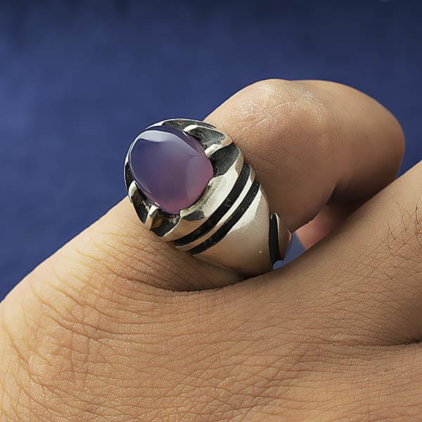 انگشتر مردانه عقیق سوسنی یمانی دست ساز
