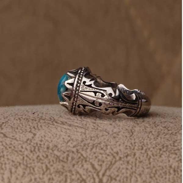 انگشتر مردانه فیروزه نیشابوری دست ساز
