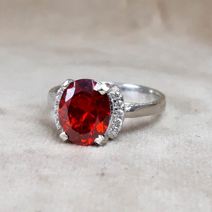 انگشتر زنانه طرح یاقوت سرخ