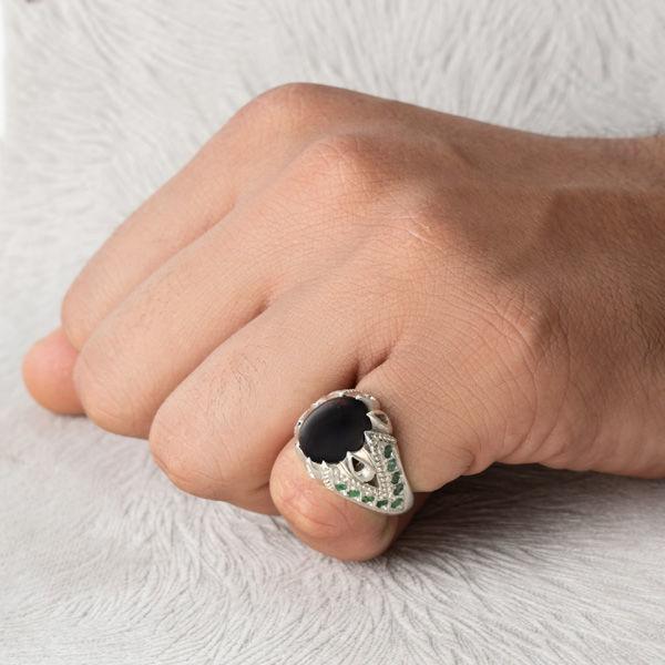 انگشتر مردانه اوپال دست ساز