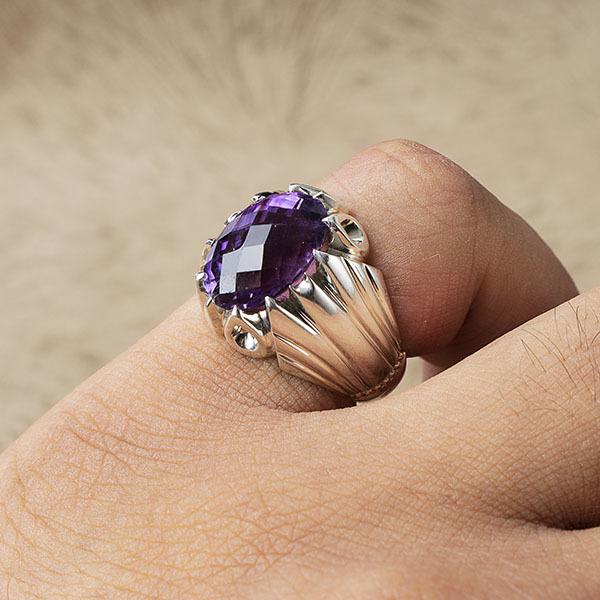 انگشتر مردانه آمیتیس دستساز