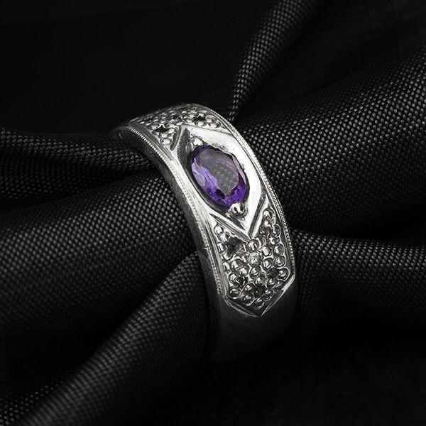 حلقه انگشتر مردانه آمیتیس دست ساز