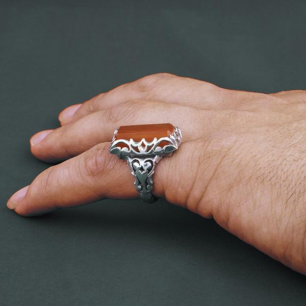 انگشتر مردانه مهره کهنه یمنی دست ساز