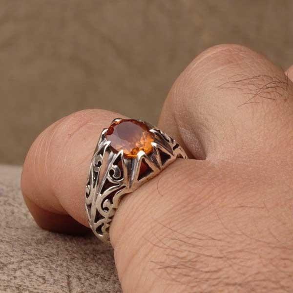 انگشتر مردانه الکساندریت هفت رنگ