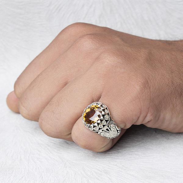 انگشتر مردانه الکساندریت هفت رنگ دستساز