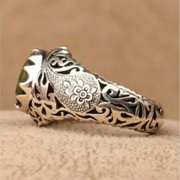 انگشتر مردانه زبرجد دستساز
