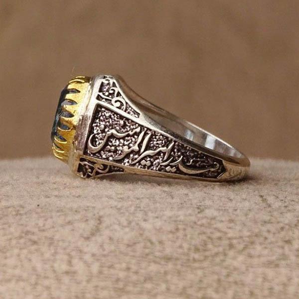 انگشتر مردانه توپاز سوئیس اصلی