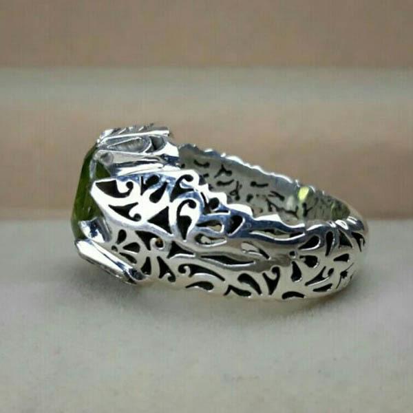 انگشتر مردانه زبرجد اصل دستساز