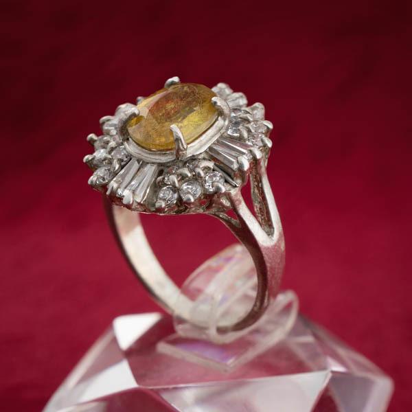 انگشتر زنانه یاقوت زرد افریقایی