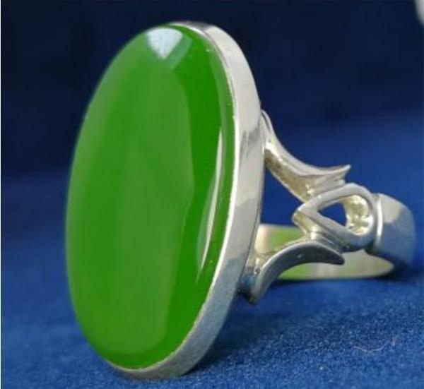 انگشتر مردانه یشم ختن دستساز
