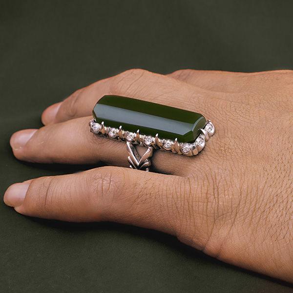 انگشتر مردانه یشم دست ساز